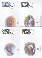 World Wide Fund For Nature 2003 South Georgia ,Grey-headed Albatross, Set 4 Official First Day Covers - FDC