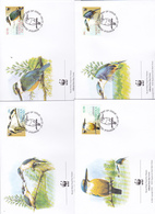 World Wide Fund For Nature 2004 Norfolk Island,Kingfisher, Set 4 Official First Day Covers - FDC