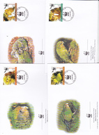 World Wide Fund For Nature 2005 New Zealand,Kakapo, Set 4 Official First Day Covers - FDC