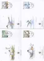 World Wide Fund For Nature 2006 Croatia,Sterna Albifrons Set 4 Official First Day Covers - FDC