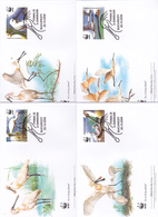 World Wide Fund For Nature 2006 Romania,Platalea Leucorodia, Set 4 Official First Day Covers - FDC