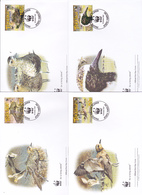 World Wide Fund For Nature 2007 Tokelau,Pacific Golden Plover, Set 4 Official First Day Covers - FDC