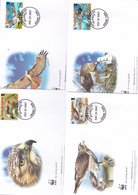 World Wide Fund For Nature 2007 Turks & Caicos,Red Tailed Hawk, Set 4 Official First Day Covers - FDC