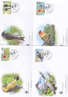 World Wide Fund For Nature 2008 Seychelles,Birds, Set 4 Official First Day Covers - FDC