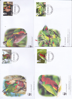 World Wide Fund For Nature 2010 Cook Islands,Rimatara Lorikeet, Set 4 Official First Day Covers - FDC
