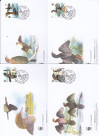World Wide Fund For Nature 2011 Serbia.Birds, Set 4 Official First Day Covers - FDC