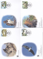 World Wide Fund For Nature 2013 Guinee Republic Set 4 Official First Day Covers - FDC