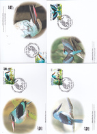 World Wide Fund For Nature 2014 St Thomas & Prince,halcion Malimbica Set 4 Official First Day Covers - FDC