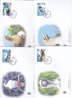 World Wide Fund For Nature 2016 Ascension Island,Ref Footed Booby, Set 4 Official First Day Covers - FDC