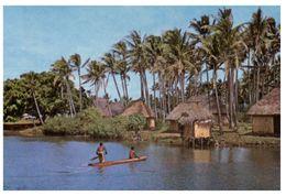 (753) Fiji Village Scene - Fidji