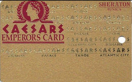 Sheraton Casino - Tunica, MS - BLANK Slot Card - 1 Line Of Text With Table Game Info - Cartes De Casino