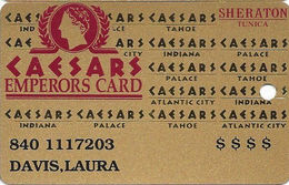Sheraton Casino - Tunica, MS - Slot Card - 1 Line Of Text With Table Game Info + Dollar Signs On Front - Cartes De Casino
