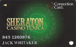 Sheraton Casino - Tunica, MS - Slot Card With CPI 2011573 Over Mag Stripe - Casino Cards