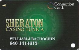 Sheraton Casino - Tunica, MS - Slot Card With 1st Line Back Right Column Aligned - Casino Cards