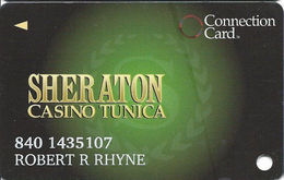 Sheraton Casino - Tunica, MS - Slot Card With 1st Line Back Right Column Indented - Cartes De Casino