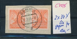 SBZ-MVP  Nr. 2x 34 X   Geprüft     O     (c7515  ) Siehe Scan - Sowjetische Zone (SBZ)