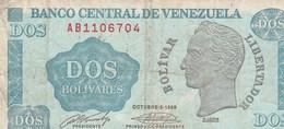 BILLET DE BANQUE  ..VENEZUELA  DOS BOLIVARES - Venezuela