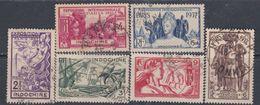 Indochine N°  193 / 98  O  Exposition Internationale De Paris,  Les 6 Valeurs Oblitérations Moyennes à AB Sinon TB - Indochine (1889-1945)