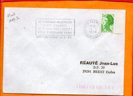 PARIS, Paris 7 Ecole Militaire, Flamme à Texte, Le 3e Millénaire C'est L'Europe, Le 18 Juin 1989 Votez - Marcophilie (Lettres)