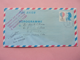 Aérogramme, Montgolfière, Premier Vol Strasbourg-Paris 1923, Louis Guidon - Mongolfiere