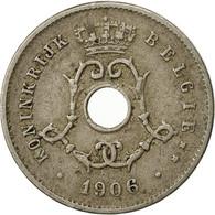 Belgique, 5 Centimes, 1906, TB+, Copper-nickel, KM:55 - 1865-1909: Leopold II