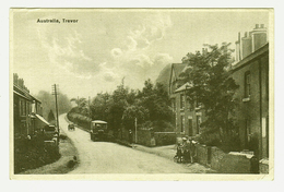United Kingdom (UK), Wales, Denbighshire, Wrexham, Vale Of Llangollen, Trevor, Australia Arms Inn, Bus, Printed Postcard - Denbighshire