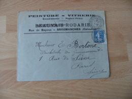 Arromanche Rodarie Peinture   Enveloppe Commerciale - France