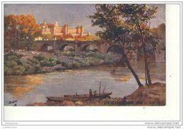 CARCASSONNE LA CITE PONT VIEUX ILLUSTRATION DE OILETTE CPA BON ETAT - Carcassonne