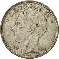 Belgique, 20 Francs, 20 Frank, 1934, TB+, Argent, KM:105 - 1934-1945: Leopold III