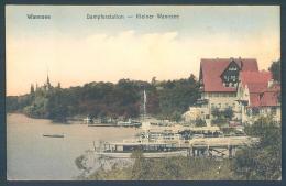 BERLIN WANNSEE Dampferstation Kleiner Wannsee - Wannsee