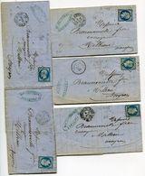 GARD De ST HIPPOLYTE Du FORT 5 LAC Avec N°14 Oblitéré PC 3115 - Storia Postale