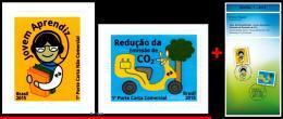 Ref. BR-V2015-134E BRAZIL 2015 ENVIRONMENT, SUSTAINABILITY ISSUE,, APPRENTICE & REDUCTION OF CO2, MNH+EDICT 2V Sc# 3 - Brazil