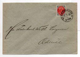 - Lettre KJØBENHAVN (Copenhague) Pour Odense 4.1.1895 - A ETUDIER - - 1864-04 (Christian IX)
