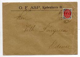 - Lettre KJØBENHAVN (Copenhague) Pour Odense 12.9.1901 - A ETUDIER - - Lettres & Documents