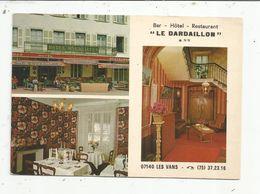 Cp , BAR , HÔTEL , RESTAURANT , Le DARDAILLON, 07, Ardeche ,LES VANS , Multi Vues - Hotels & Restaurants