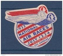 Etats Unis - Vignette National Air Race Los Angelès 1933 - Neuf * - TB - Erinofilia