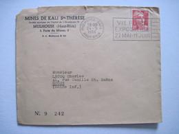 1950 MINES DE KALI Ste THERESE MULHOUSE (Haut-Rhin) - Marcophilie (Lettres)