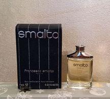 """Miniature """"SMALTO"""" De FRANCESCO SMALTO EDT 7 Ml  Dans Sa Boite - Miniatures Modernes (à Partir De 1961)"""