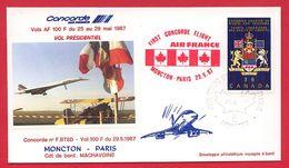 Concorde - Vol Présidentiel Moncton-Paris - 29/05/1987 - Air France - Concorde