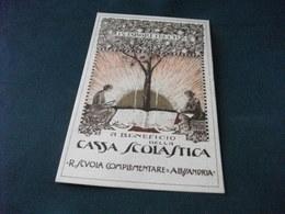 CASSA SCOLASTICA R. SCUOLA COMPLEMENTARE ALESSANDRIA 1925 PICCOLO FORMATO RARA - Scuole