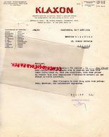 92- COURBEVOIE- LETTRE KLAXON- 39 AV. MARCEAU- PARIS-31 RUE DARU-1934 - Cars