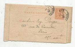 Carte Lettre, 1903 , ENTIER POSTAL , AUBIN , AVEYRON - Entiers Postaux