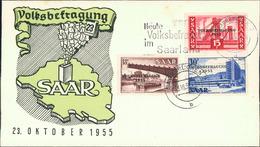 Saarland, Volksbefragung 1955, Michel 362-364 (59) - Lettres & Documents