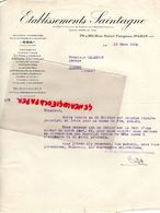 75- PARIS- LETTRE ETS. SAINTAGNE-BOUGIES ACCESSOIRES AUTOMOBILE AVIATION- ODA- 72 RUE SAINT FARGEAU-1934 - Cars