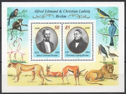 Allemagne - DDR - Bloc-Feuillet N° 97 Neuf ** - Oiseaux - Christian Ludwig Et Alfred Edmund Brehm - Blocks & Kleinbögen