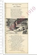 Press Clipping 1910 Ancienne Fable Arabe - Le Chat - Métier Forgeron Forge Enclume Outil Lime Marteau Pince 216PF10XB - Vieux Papiers