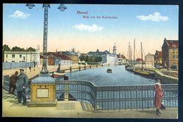 Cpa De Lituanie Memel  Blick Von Karlsbrücke -   Lithuania  Lituania  MARS18-09 - Lithuania