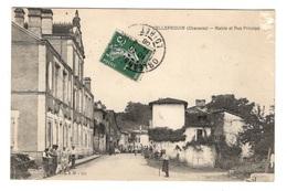 16 CHARENTE - CELLEFROUIN Mairie Et Rue Principale (voir Descriptif) - Sonstige Gemeinden