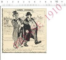 Presse 1910 Humour Guerre De 1870 Histoire De France Jeu De Cartes Manille Manillon As Carte Homme Bedonnant 216PF10XB - Vieux Papiers