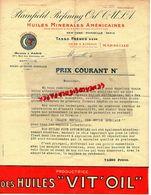 13- MARSEILLE- NEW YORK- PARIS-RARE LETTRE PLAINFIELD REFINING OIL- HUILES MINERALES VIT 'OIL- TASSO FRERES 1920 - Cars